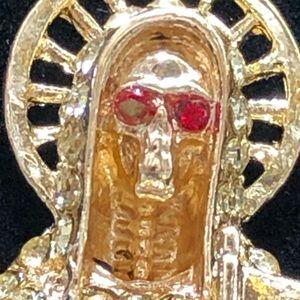 Other - Santa Muerte lemon stone pendant jewelry
